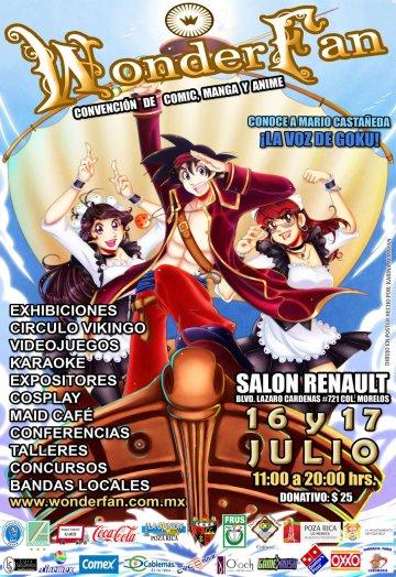Poster publicitario de Wonder Fan 3 - Poza Rica, Veracruz.