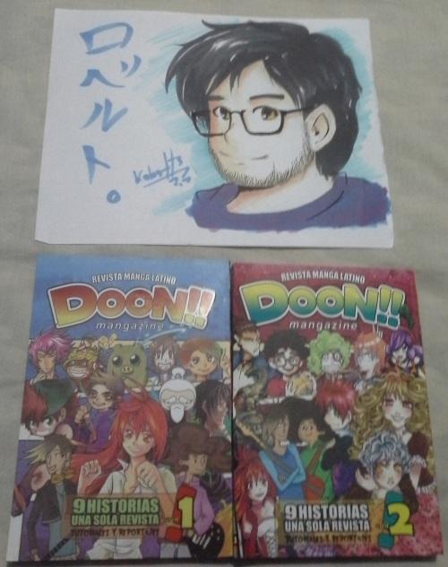 Un poco de lo que traje, mas un regalo, gracias a los amigos de Doon!! Mangazine.