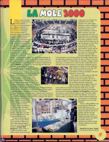 Reseña de La Mole 2000. [imagen: Minami - Año 2, #9]
